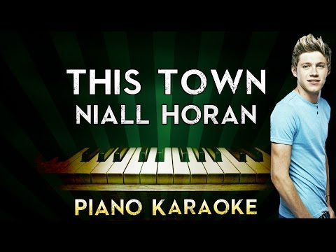 Niall Horan - This Town | Piano Karaoke Instrumental Lyrics Cover Sing Along