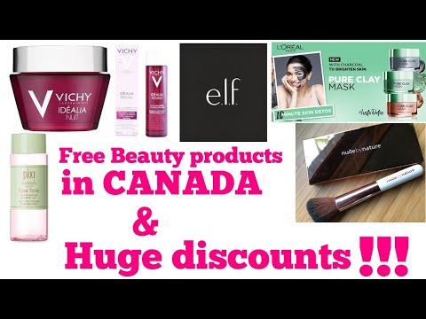 How I Got FREE Beauty Products😍😍 In CANADA!!!