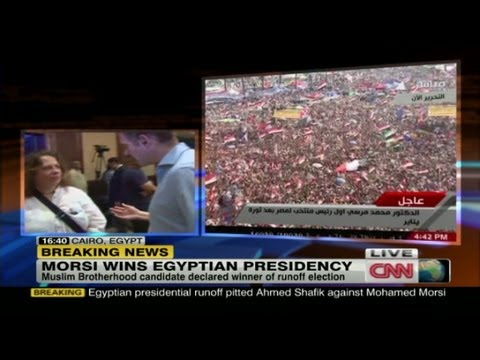 Ahmed Shafik's supporters react to his loss.