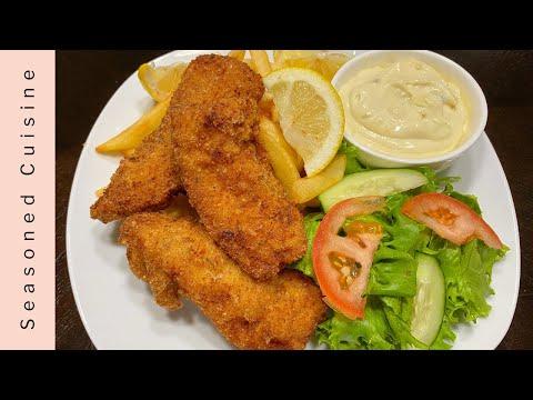 Homemade Fish & Chips W/ Tartar Sauce | How To Make Fish & Chips