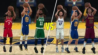 Which Position Is Better At Threes? Point Guards or Shooting Guards? NBA 2K18 Challenge!