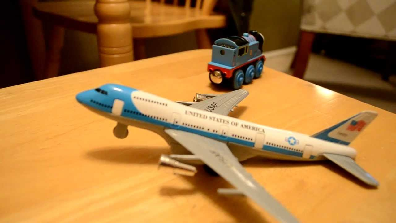 Thomas Train Crash Into Air Force One Plane Youtube