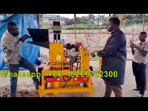 Rwanda feedback M7MI diesel movable hydraulic south africa solid clay interlock block machine