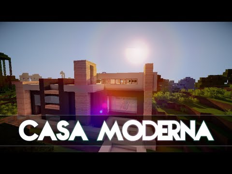 Minecraft 1 8 casa moderna para supervivencia descarga for Casa moderna 1 8