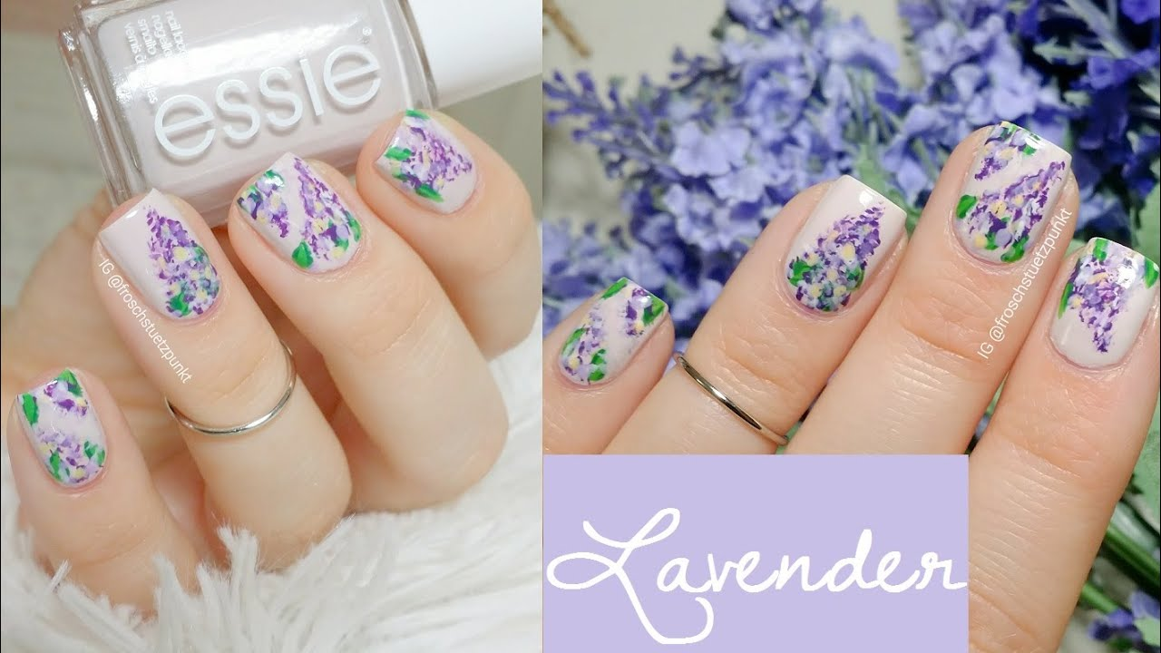 Super easy Lavender Nail Art Tutorial - YouTube