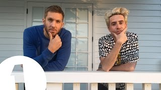 Calvin Harris takes Grimmy around his home studio in LA.