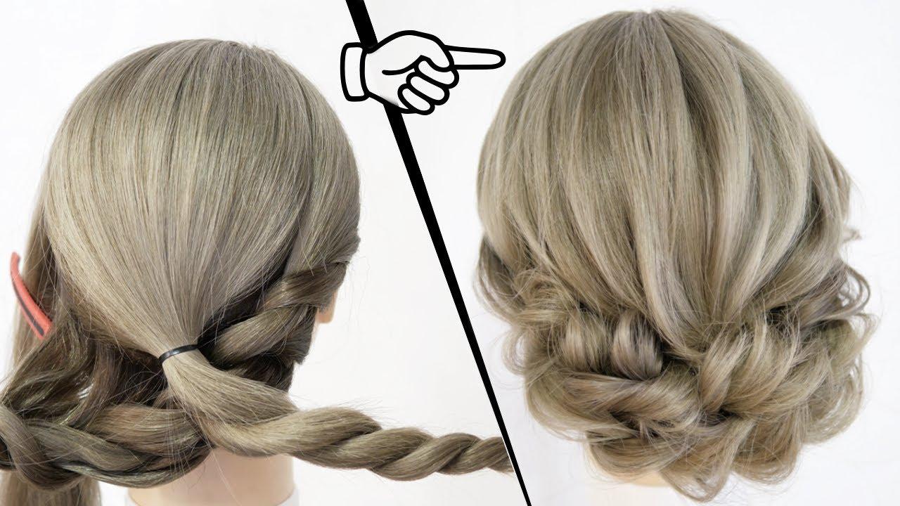 簡単!アイロンなし!ロープ編みで作る大人可愛いまとめ髪のヘアアレンジ!SIMPLE UPDO  |  Quick and easy hair tutorial| Updo Hairstyle