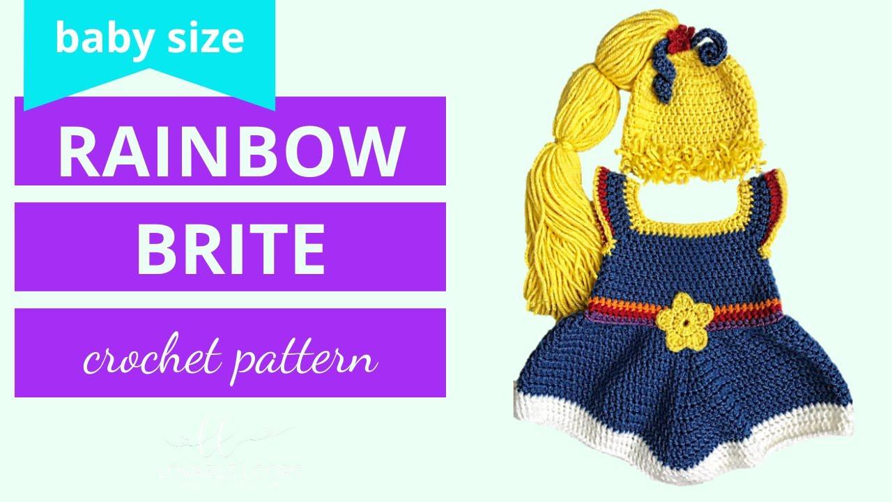 Rainbow Brite Dress Costume Crochet Pattern Tutorial Video | Baby ...