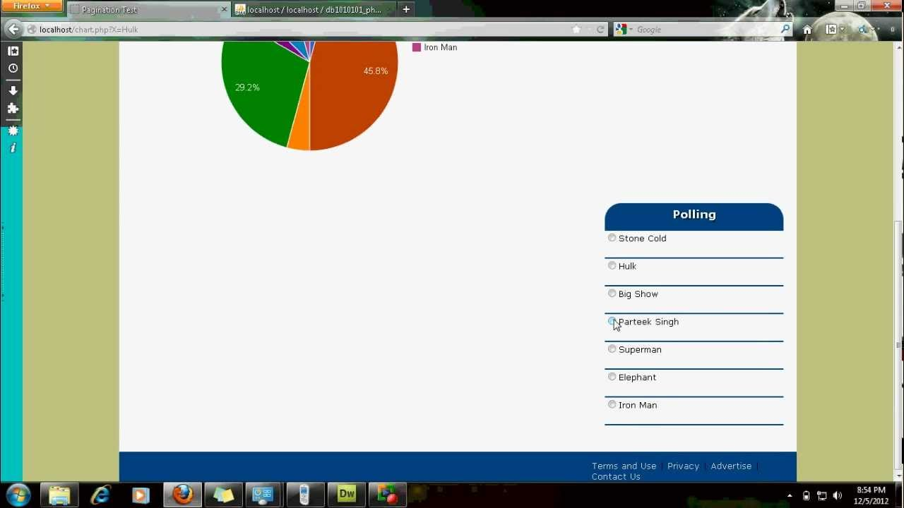 Dynamic 3d pie charts using php and google library youtube nvjuhfo Choice Image