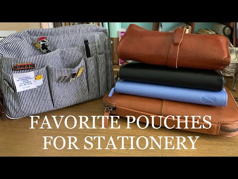 Favorite Pouches For Stationery | Vlogtober 2020