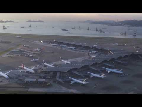 Air China CA106: Hong Kong to Dalian Takeoff