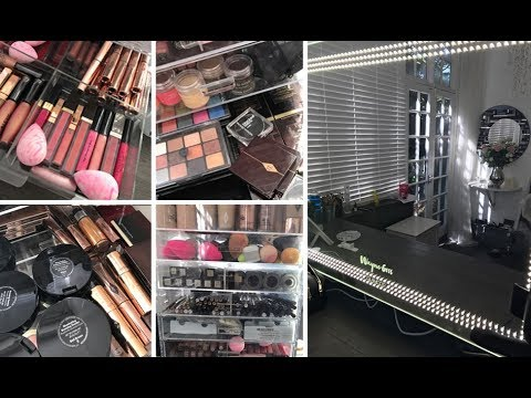 MY STUIDO SET UP  & MAKEUP STORAGE!!!!