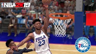 NBA 2K19 - Jimmy Butler traded to 76ers! - 76ers vs Timberwolves Highlights - ESPN Presentation