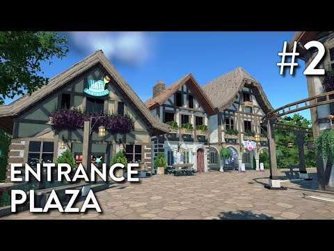 Planet Coaster: Neckar Park (Part 2) - Entrance Plaza