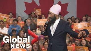 NDP Leader Jagmeet Singh holds rally in Ontario