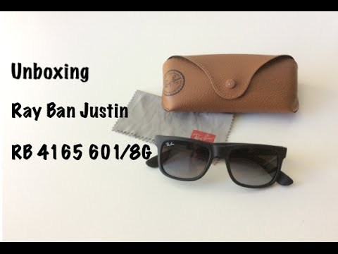 e20819cb3b8 Ray Ban Justin RB4165 601 8G portugues HD - YouTube