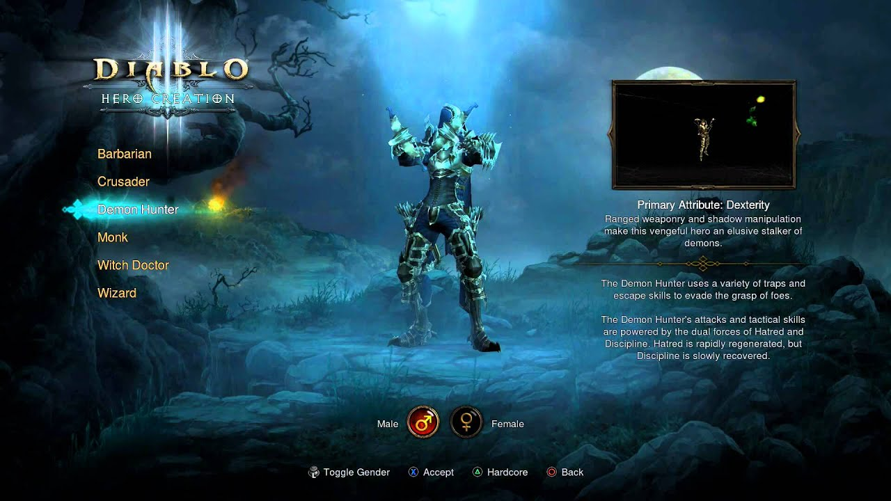 Diablo III Ultimate Evil Edition - Character (All Classes) Crusader, Witch  Doctor, Demon Hunter Info
