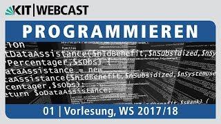 01: Programmieren, Vorlesung, WS 2017/18