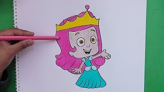 Como dibujar y colorear a Molly (Bubbles Guppies) - As Molly drawing and coloring