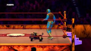 WWE 12 Inside the Ring - Mastering Grappling - Sin Cara vs Daniel Bryan thumbnail