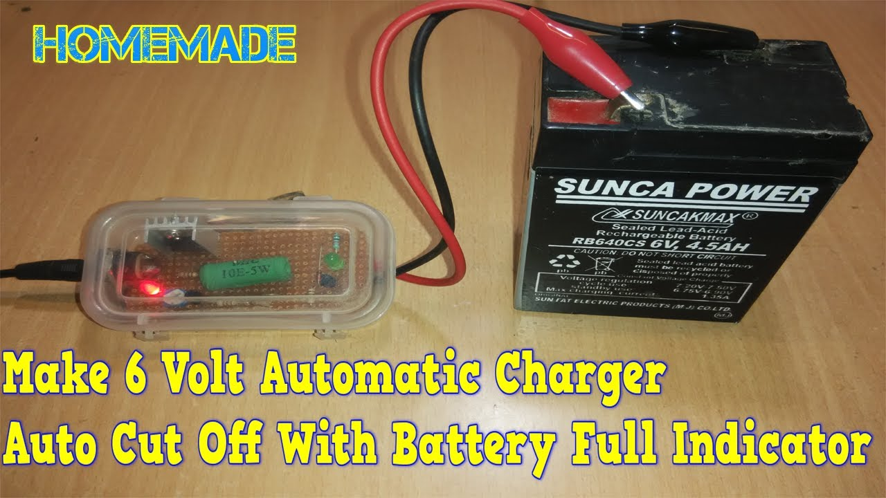 how to make 6v automatic battery charger at home [ 1280 x 720 Pixel ]