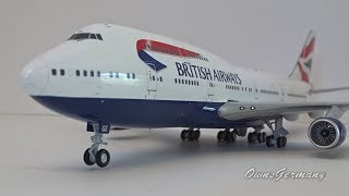 British Airways Boeing 747 G-BYGE 1/200 Gemini Jets UnBoxing + Drooling