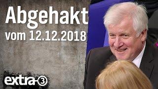 Abgehakt am 12.12.2018 | extra 3 | NDR
