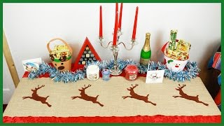 Diy Christmas Reindeer Table Runner - Xmas Crafts