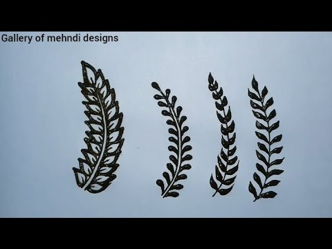 4 beautiful henna leaf mehndi design tutorial for henna steps ll by Gallery of mehndi designs thumbnail