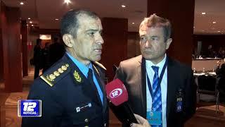 Encuentro de jefes policiales del país.