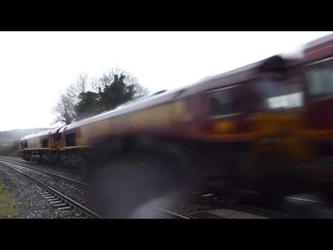 0x12/0o12 Convoy x 5 @ Bathampton Jn ,25-01-14