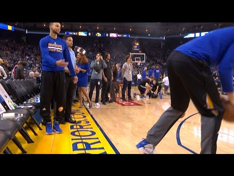 Klay Thompson Interrupts Stephen Curry's Pre-Game Routine | 01.12.17