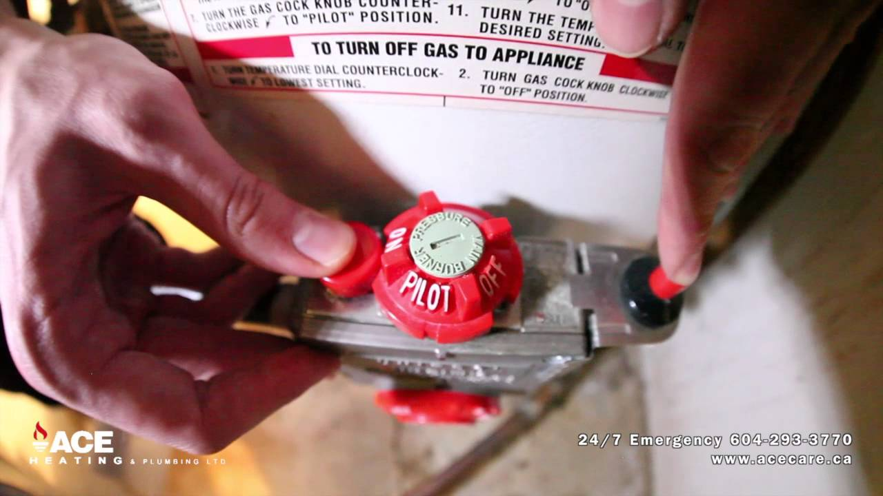 No Hot Water: How To Turn On Pilot Light On Hot Water Tank | Pro Ace Heating  U0026 Air Conditioning Ltd.