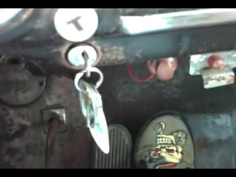 1950 Chevy, floor starter - YouTube