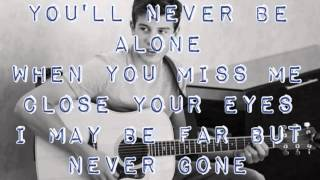 Never be alone --Shawn Mendes (Lyric Video)