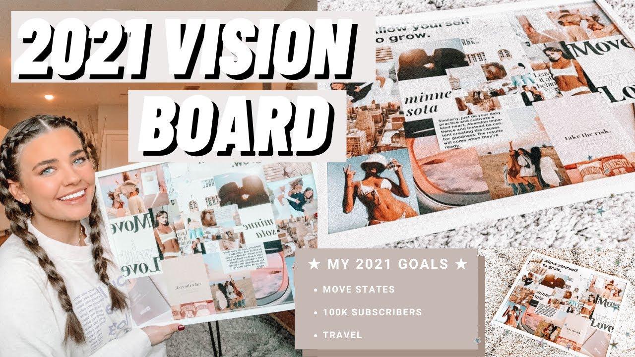 как сделать 2021 год ЛУЧШИМ годом |  доска видения Сделай сам и мои цели !!