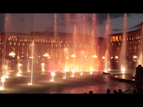 Dancing Fountains In Republic Square / Поющие фонтаны Еревана  #Армения #Ереван #Yerevan #Armenia