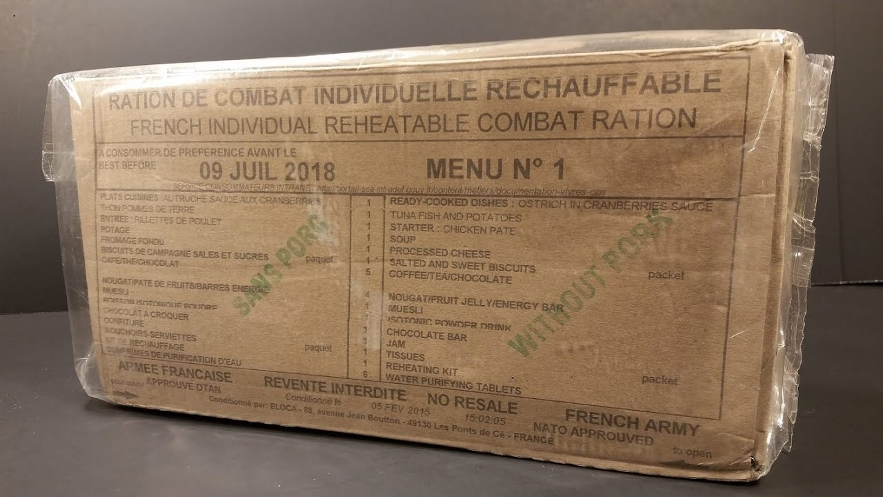 french rcir ostrich cranberry sauce hr ration mre review  2015 french rcir ostrich cranberry sauce 24 hr ration mre review military combat food tasting