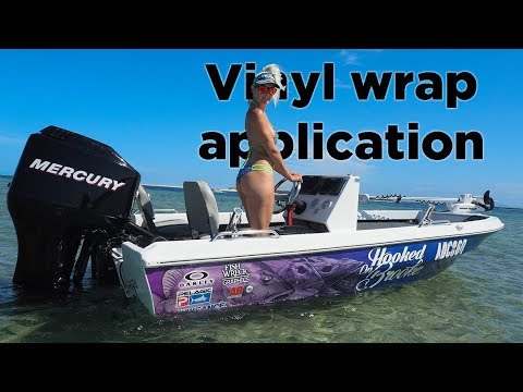 Applying A Vinyl Boat Wrap - Fishwreck