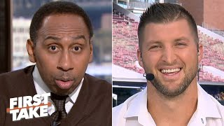 Tim Tebow shocks Stephen A. by calling LSU QB Joe Burrow his Heisman Trophy favorite | First Take