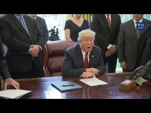 President Trump Speaks About Steel Imports and Signs Memorandum Ordering Trade Probe