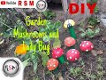 Garden/Home/Lawn Decorations idea | Cheap and super easy | Mushroom and Ladybug DIY|
