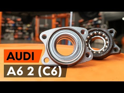 How to replacefront wheel bearing/ front hub bearing onAUDI A6 2 (C6) [TUTORIAL AUTODOC]