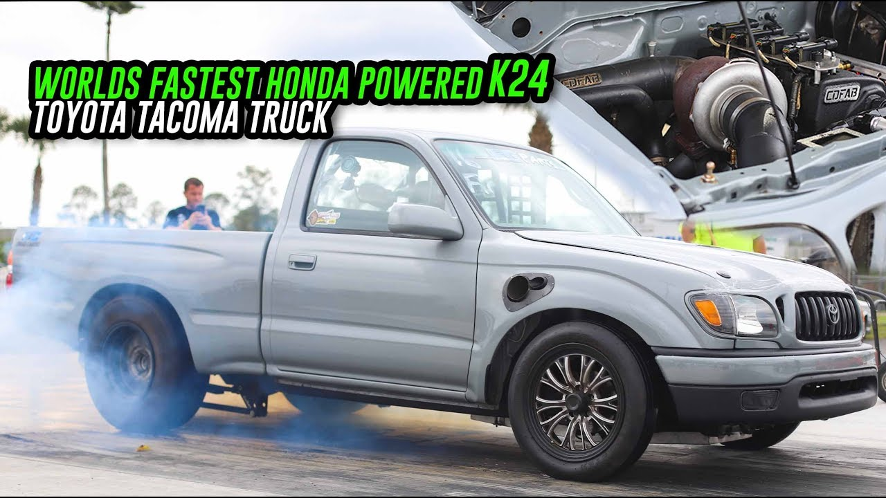Worlds Fastest K24 Swapped Toyota Tacoma is back at it again