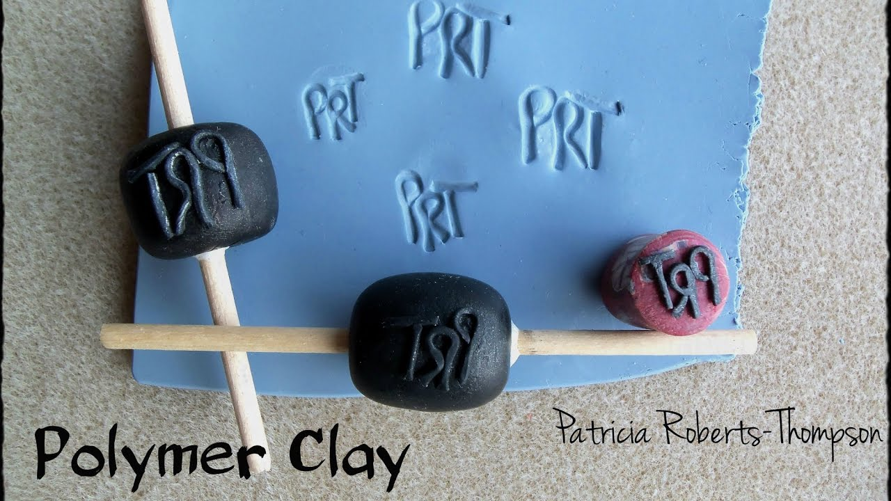 polymer clay initial stamps youtube