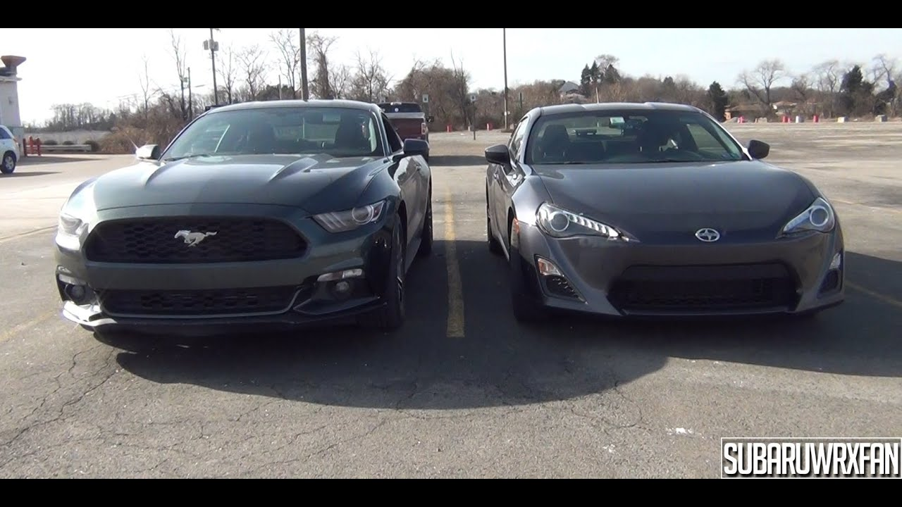Mustang Vs Camaro >> Size Comparison: 2015 Mustang and Scion FR-S - YouTube