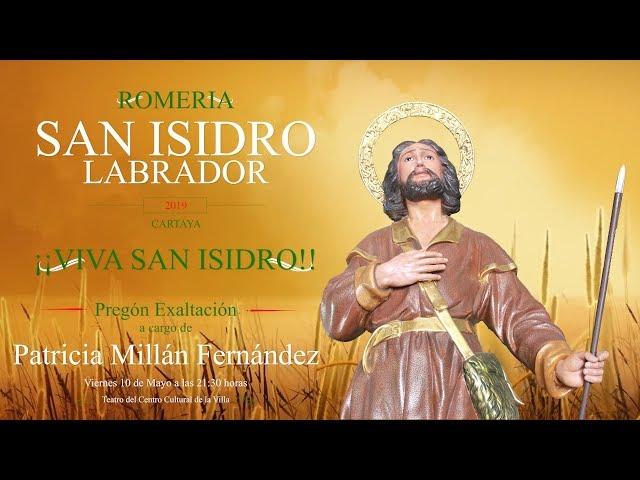 Pregón Exaltación a San Isidro Labrador de Cartaya 2019