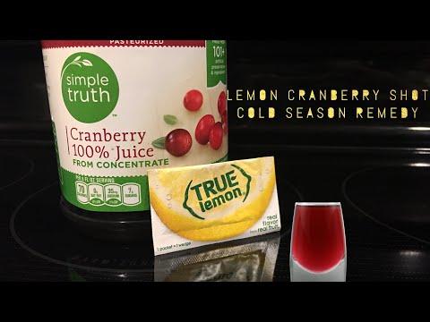 Lemon Cranberry Shots [Cold/Flu Season Remedy/Pick-Me-Up]