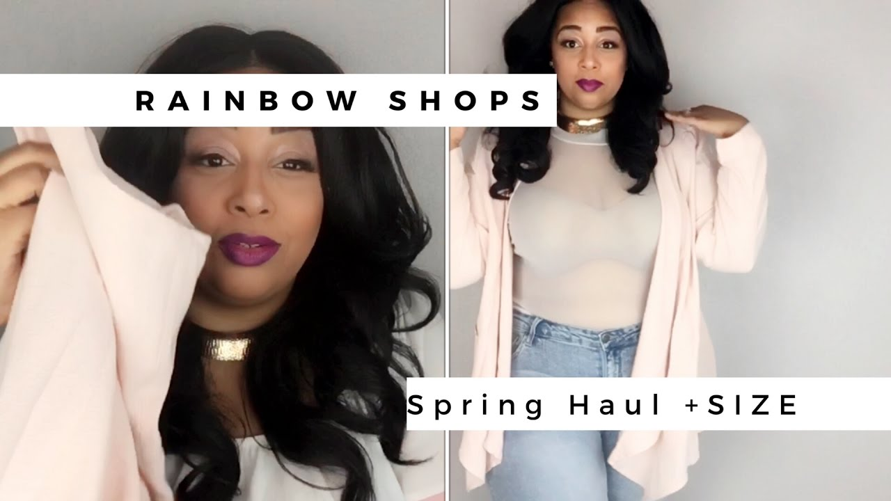 Rainbow Shops Online Shopping Spring Haul- Plus Size Edition - YouTube