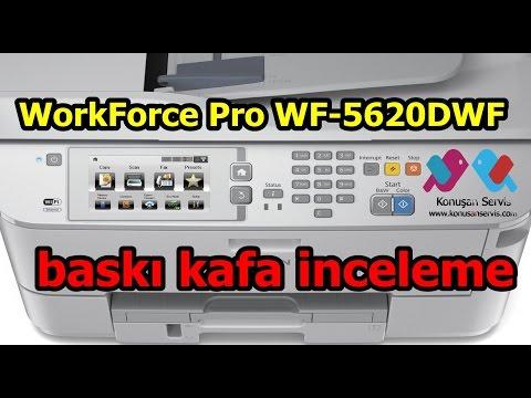 Epson WorkForce Pro WF-5620DWF Baskı Kafa Inceleme Konusan Servis